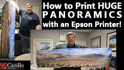 How to Print HUGE PANORAMICS with an Epson Printer!