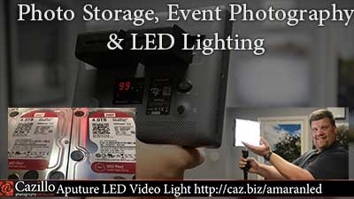 Photo Storage, Event Photography & LED Lighting
